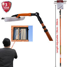 Window Cleaner Telescopic Conservatory Glass Cleaning Kit Squeegee Wiper 3.5M