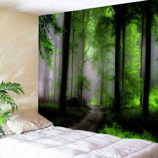 Art Foggy Forest Print Tapestry Decorative Wall Hanging Tapestry Home Decoration