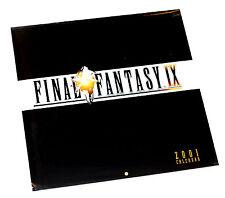 Final Fantasy IX 2001 Calendar Factory Sealed Squaresoft/Entertainment Calendars