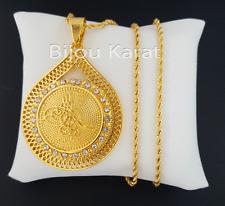 Osmanli Tugra Gold Münze Kette 22 Karat vergoldet Altin Kaplama Cumhuriyet Kolye