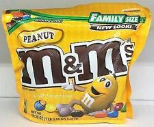 NEW SEALED PEANUT M&M'S MILK CHOCOLATE CANDIES FAMILY SIZE 19.20 OZ BAG MARS