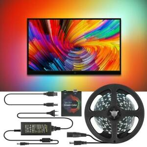 USB Ambient Strip Light For TV WS2812B Led DIY Backlight MultiColor PC Kit Tape©