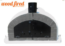 brick outdoor wood fired Pizza oven 100cm x 100cm Italian black and grey