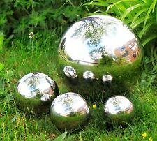 Garden Stainless Steel Gazing Balls Metal Ball Globes Floating Pond Decor Balls