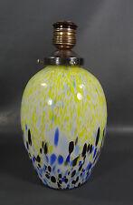 Modernist Italian Murano Millefiori Art Deco Glass Desk Table Lamp Shade Globe