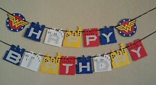 Wonder Women Happy Birthday Banner . Free shipping USA