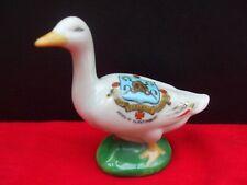 Crested China Goose On Green Base- GLASTONBURY