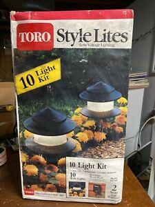 Toro Style Lites 10 Low Voltage Landscape Lights Set Power Pack Model 52196 NOS