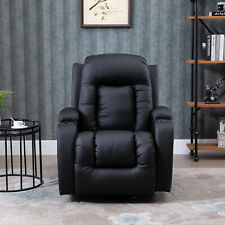 Faux Leather Vibrating Massage Recliner Chair with Remote Black