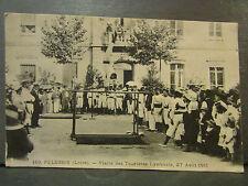 cpa 42 pelussin les croix visite des touristes lyonnais 27 aout 1911