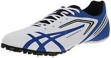 ASICS Men's Hypersprint 5 Running Shoe,White/Black/Blue,10.5 M US