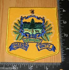 Vermont Freedom & Unity Blue, Green, & Gold Cloth Patch Only