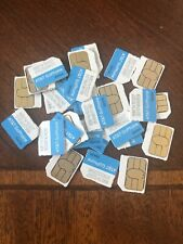 10 pack New Activation Ready At&T 4G Lte Micro 3Ff Sim Card 6943A