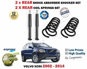 FOR VOLVO XC90 T T6 D3 D5 2002-> 2X REAR SHOCK ABSORBERS + 2X COIL SPRINGS SET