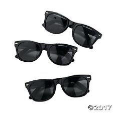 """Oriental Trading Sunglasses 12 Black Nomad 5 1/2"""" with 5 1/4"""" ear pieces Plastic"""