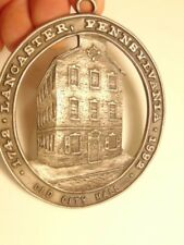 decorative pewter plaque: Lancaster, PA's 250th anniversary/ Old City Hall shown
