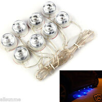 New 2 Group Waterproof Blue Decoration Atmosphere Light Undercar Car Lamps 12V