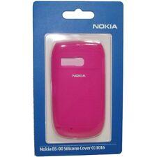 Original Nokia E6-00 Funda de silicona CC-1016 - Rosa (02726N3)