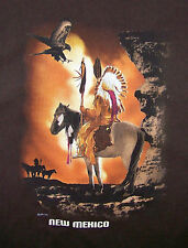 NEW MEXICO USA T-SHIRT  / EPI 2004 / NATIVE AMERICAN / INDIAN / BROWN SIZE L