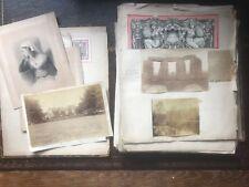 Victorian Scrap Album Pictures, Prints, Sketches - Canada interest & Stonehenge