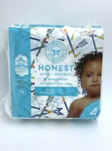 NEW Honest Diapers Sz 4 This Way That Way Arrow Retired Print 23 Pack