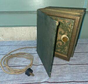 Antique Stewart Warner Bookshelf Speaker ~ Faux Books COOL Made in USA Untested