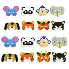 10x Children's EVA Animal Masks Dressing up Party Bag Fillers Jungle Dress Prop