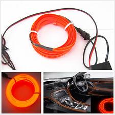 2M Orange EL-Wire Car Interior Unique Decor Fluorescent Strip Neon Cold light