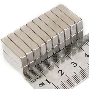 20pcs 20mm x 10mm x 4mm Strong Industrial Neo Neodymium Block Rectangular Magnet