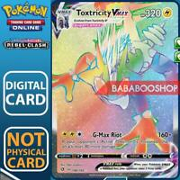 Toxtricity VMax Full Art 196/192 Rebel Clash for Pokemon Card Online TCG Digital