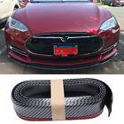 For Tesla model S 3 2.5m/8.2ft Carbon Fiber Front Bumper Lip Splitter Spoiler