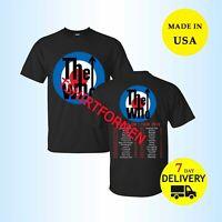 New The Who Shirt Moving On Tour Dates 2019 T-Shirt Full Size Men Black