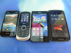 Lot of 4 Display Model Toy Cell Phone Nonworking