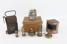 More details for 8 x antique / vintage lamps & lanterns inc. ship starboard lamp, miners etc