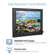"EYOYO 12"" LCD HD Monitor Screen Multi-interface BNC AV HDMI 800x600 for PC CCTV"