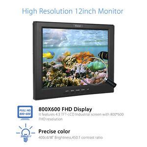 "Eyoyo 12""LCD TFT Screen Display HD Monitor VGA HDMI BNC AV USB For Security CCTV"