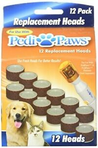 2 Packs of PediPaws 12 Replacement Filing Heads As Seen On TV Dogs or Cats NEW