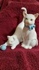 Pair of Herend Cat Figurines