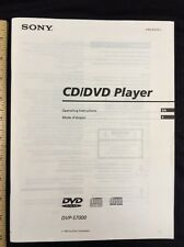 Sony DVP-S7000 DVD CD Player Original Owners Manual 54 English Pages dvps7000