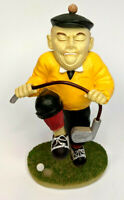"""VINTAGE 6"""" Silly Angry GOLFER  FIGURINE  Statue Collectible"""