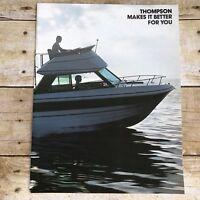 Vintage Thompson Boat Dealer Sales Brochure 1977 Boating Advertising Sea Farer