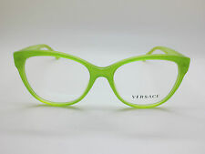 NEW Authentic VERSACE Mod. 3193 5096 Lime Glitter 52mm RX Eyeglasses