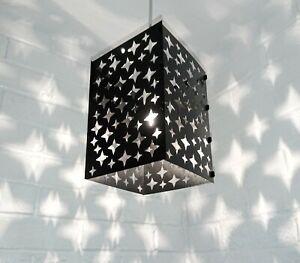 lampshade light shade GIRL BOY star stars BLACK