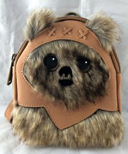 Disney Parks Star Wars Ewok Yub Nub Loungefly Backpack Wristlet Bag - NEW