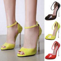 Womens Platform Pumps Stiletto High Heels Ankle Strap Sandals Work Dress Shoes