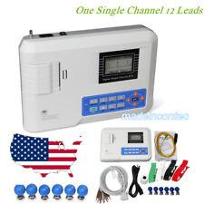 Digital Single Channel 12-lead ECG/EKG machine Electrocardiograph FDA CE USA