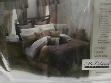 NEW MCLELAND DESIGN 30 PIECE BROWN COMFORTER SET SIZE KING BED IN A BAG