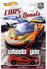McLAREN P1 - Cars & Donuts - 2017 Hot Wheels Car Culture - L Case - Real Riders