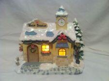 "Precious Moments Christmas Village ""Precious Rails Train Station"" Lighted"