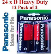 Panasonic R20DP/2B D Heavy Duty Batteries - 2 Pack